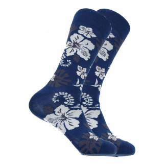 Hawaiian Flower Sock Socks