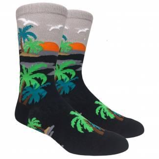 Tropical Palm Tree Sock Socks