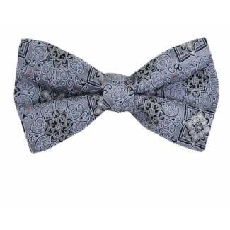 Self Tie Bow Tie Gray Self Tie