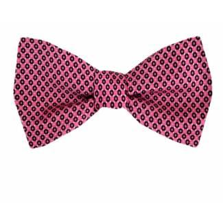 Self Tie Bow Tie Pink Self Tie