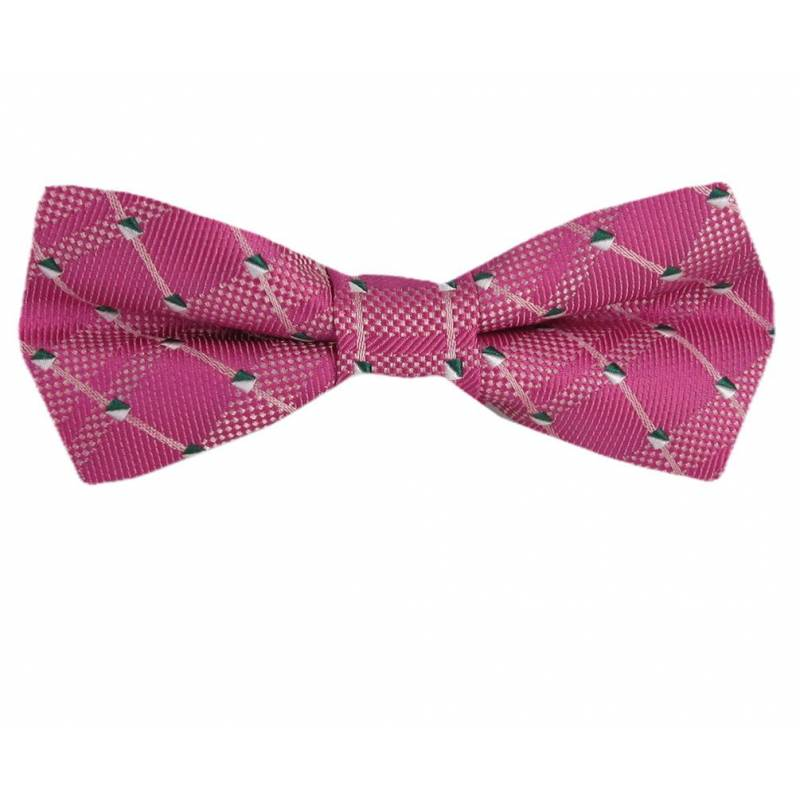 Self Tie Narrow Bow Pink