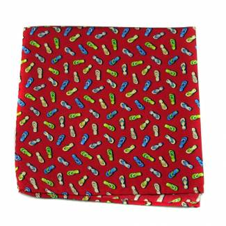 Sandals Silk Pocket Square