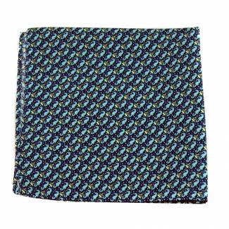 Seahorse Silk Pocket Square