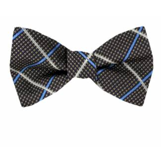 Self Tie Bow Tie Gray Self Tie