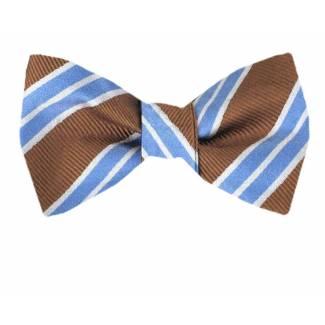 Self Tie Bow Tie Orange Self Tie
