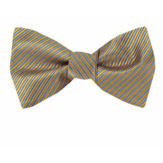 Self Tie Bow Tie Yellow Self Tie