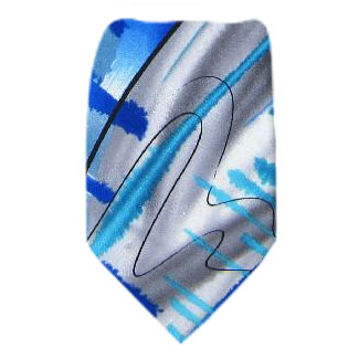 Blue XL Jerry Garcia Tie Ties
