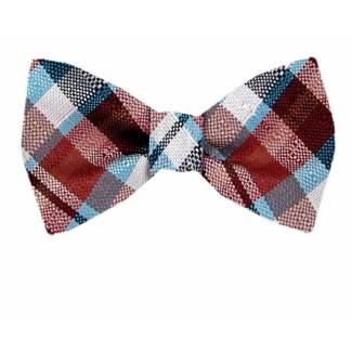 Self Tie Bow Tie Red Self Tie