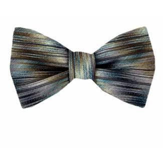 Self Tie Bow Tie Brown Self Tie