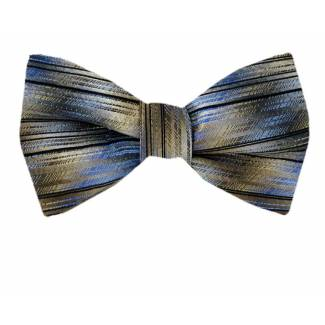 Self Tie Bow Tie Brown Self Tie