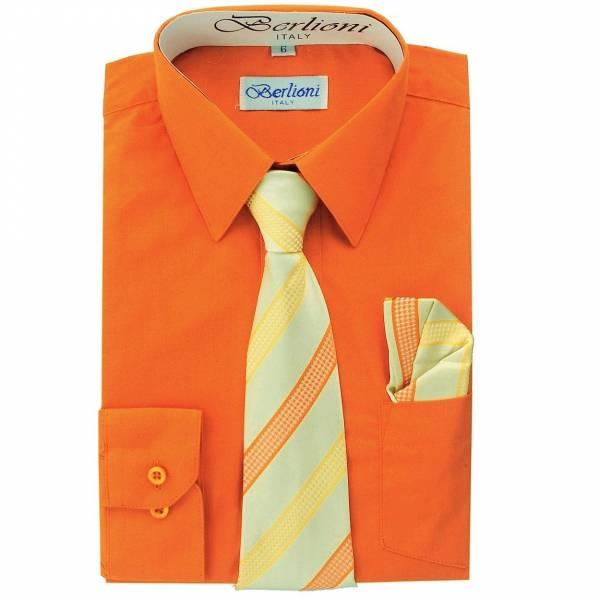 Orange Dress Shirt