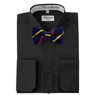 Mens Shirt Black Mens Shirt & Bow Tie