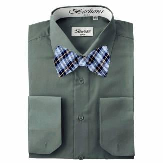 Mens Shirt Gray Mens Shirt & Bow Tie