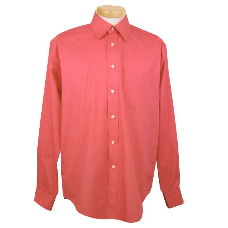 Mens shirt orange for Coral shirts for guys