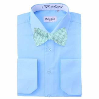 Mens Shirt Blue Mens Shirt & Bow Tie