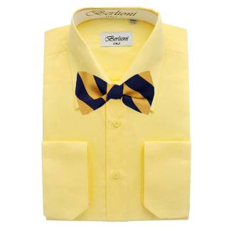 Mens Shirt Yellow Mens Shirt & Bow Tie