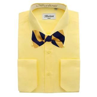 Mens Shirt Yellow Mens Shirt & Bow Tie