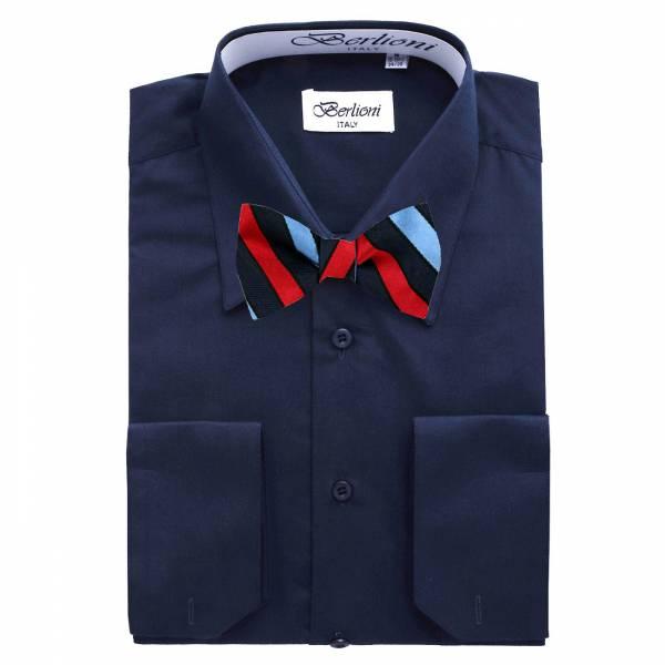 Mens Shirt Blue Mens Shirt & Bow Tie