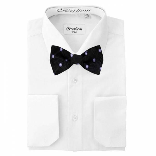 Mens Shirt White Mens Shirt & Bow Tie