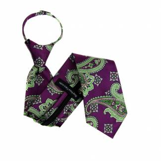 Magenta Boys 14 inch Zipper Tie Zipper Tie 14 inch