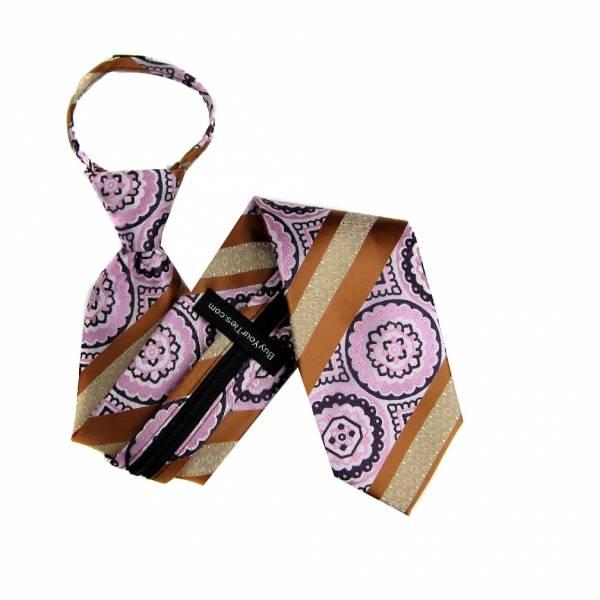 Bronze Mens Zipper Tie Regular Length Zipper Tie