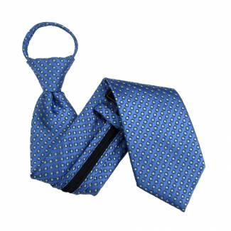 Blue Dot Zipper Tie Regular Length Zipper Tie