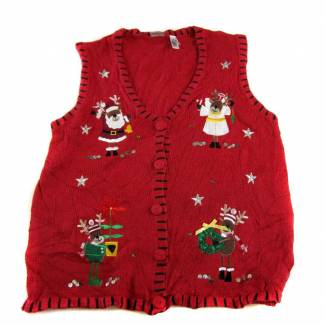 Large Ugly Christmas Sweater Vest