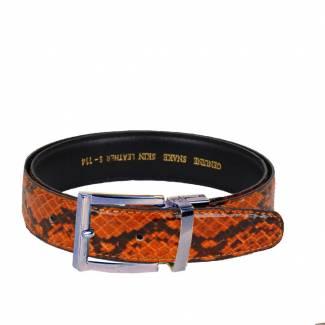 Python Skin Belt Mens