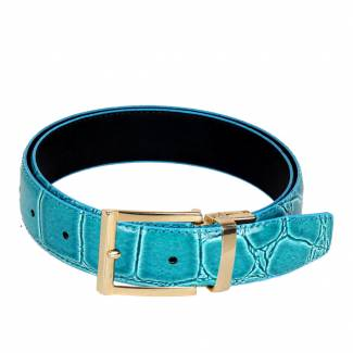 Alligator Skin Belt Mens