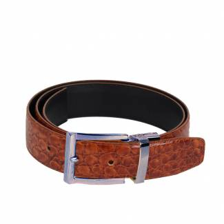 Crocodile Skin Belt Mens