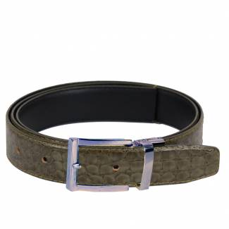 Crocodile Skin Belt Mens