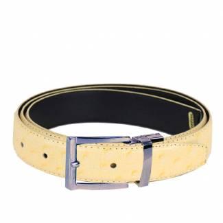 Ostrich Skin Belts Mens