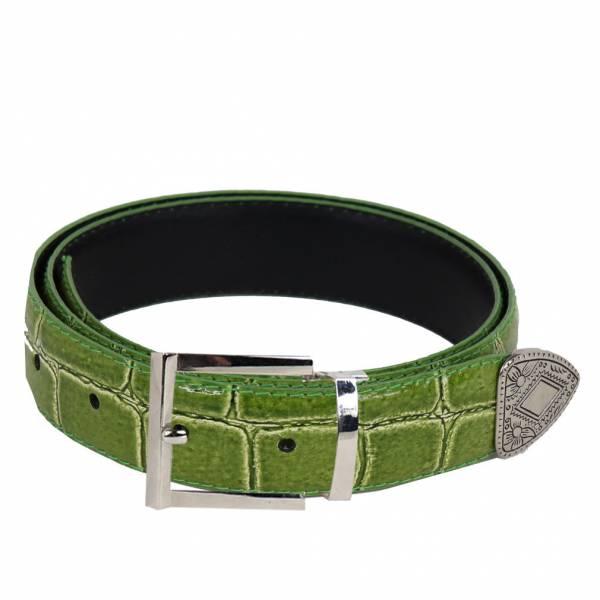 Alligator Skin Belt Mens