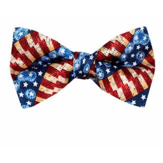 USA Flag Pre Tied Bow Tie Pre Tied Novelty