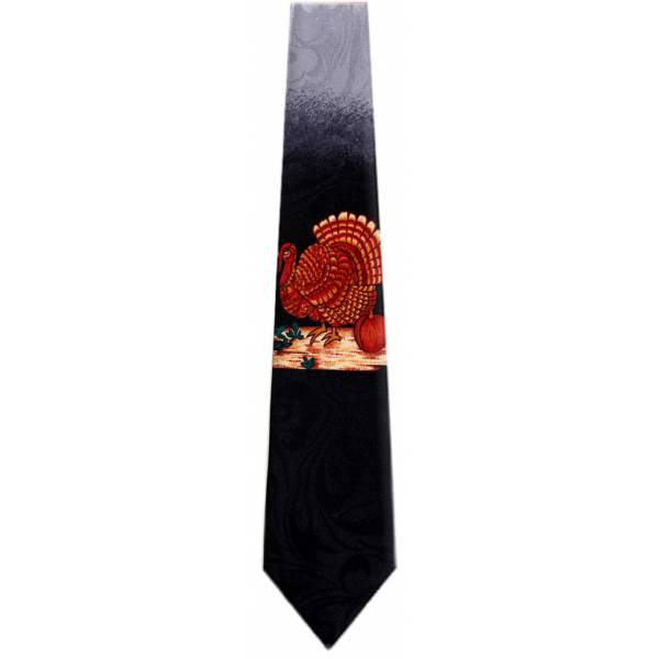 Black Thanksgiving Tie Holiday Ties