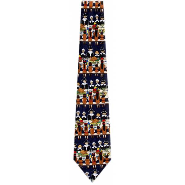 Black Thanksgiving Tie Holiday Ties