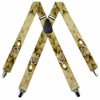 Deer Suspenders 1.50 inch Wide Suspenders