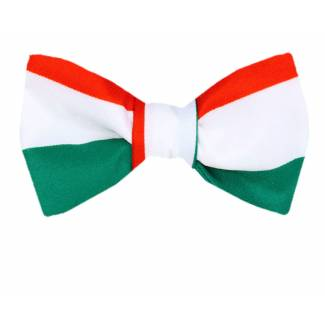 Italian Flag Self Tie Bow Tie Self Tie