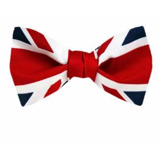 Union Jack Pre Tied Bow Tie Pre Tied