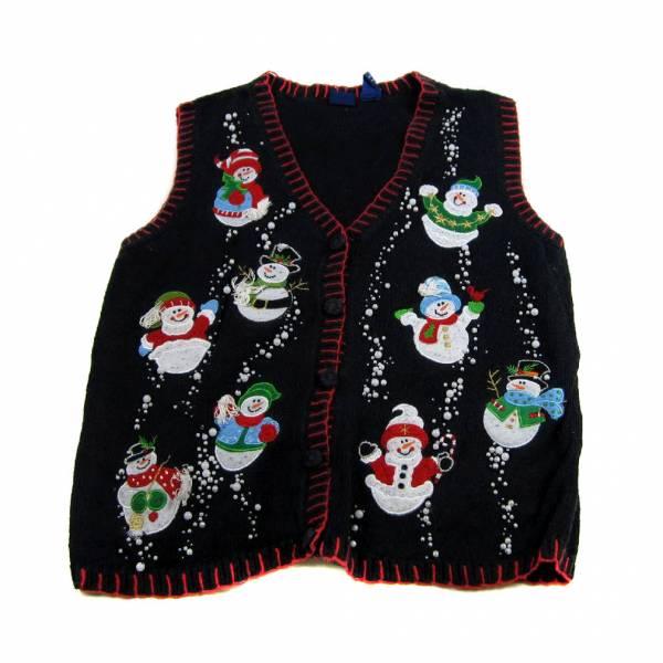 Large Ugly Christmas Sweater Vest Large