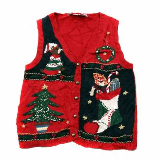 Small Ugly Christmas Sweater Vest Small