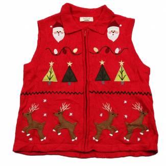 Medium Ugly Christmas Sweater Vest Medium