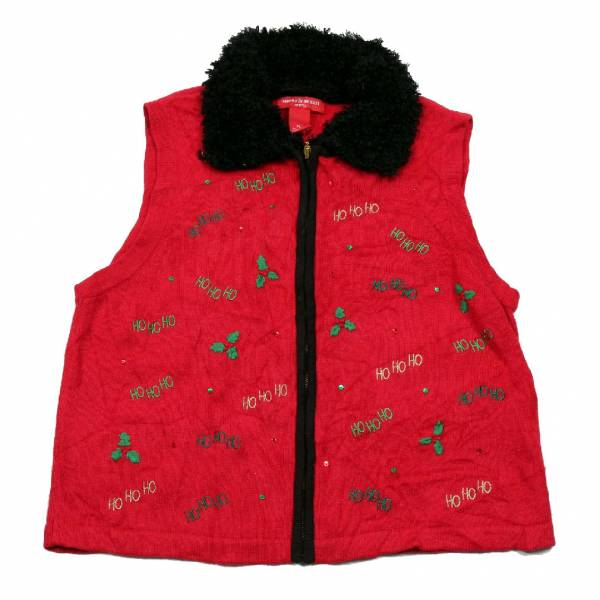 Large Ugly Christmas Sweater Vest Large