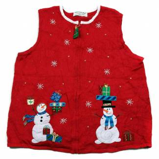 X Large Ugly Christmas Sweater Vest X-Large
