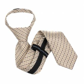 Taupe Boys 14 inch Zipper Tie Zipper Tie 14 inch