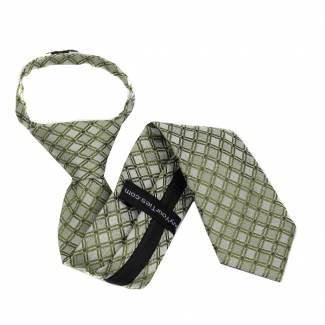 Green Boys 14 inch Zipper Tie Zipper Tie 14 inch