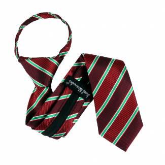 Burgundy Boys 14 inch Zipper Tie Zipper Tie 14 inch