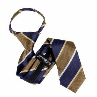 Brown Boys 14 inch Zipper Tie Zipper Tie 14 inch