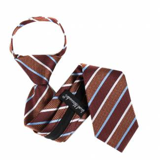 Brown Boys 14 inch Zipper Tie Zipper Tie 14 inch