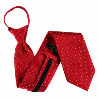Red Extra Long Zipper Tie Zipper Ties